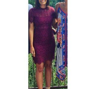 Wine colored lace dress